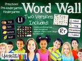 Back to School - Chalkboard/White Word Wall {preschool, pr