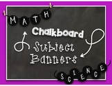Chalkboard Subject Banners