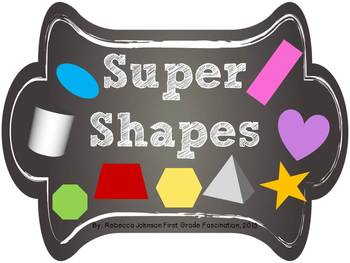 Chalkboard Super Shapes posters