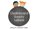 Chalkboard  Supply Labels