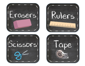Chalkboard Supply Labels