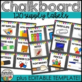 Chalkboard Supply Labels Editable