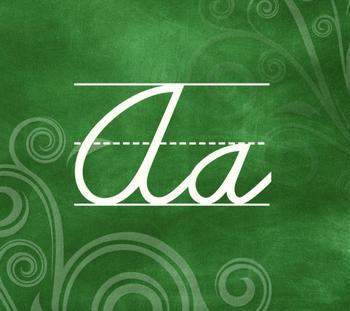 Chalkboard Swirls Themed Alphabet - Cursive
