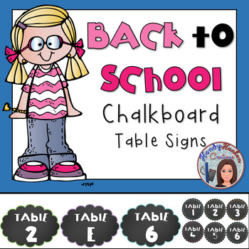 Chalkboard Table and Desk Decor Signs