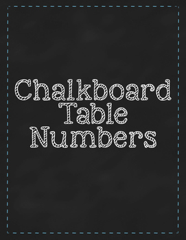 Chalkboard Table Numbers, Lime Green