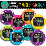Chalkboard Brights Table Numbers