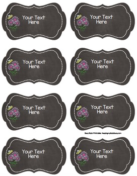 Chalkboard Tags {EDITABLE} Entire Year - Labels - Centers - File - Organize