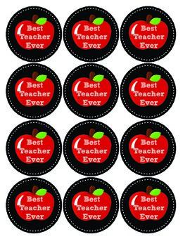 Chalkboard Teacher Appreciation Gift Tags Best Teacher Ever