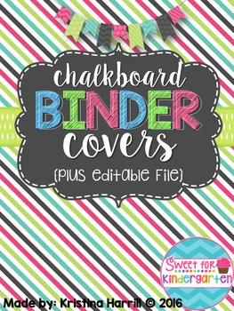 Chalkboard Teacher Binder Covers