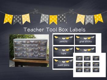 Chalkboard Teacher Tool Box