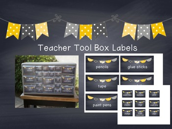 Chalkboard Teacher Tool Box