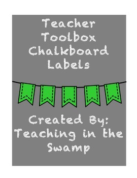 Chalkboard Teacher Toolbox Labels