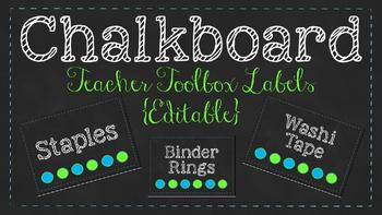 Chalkboard Teacher Toolbox Labels