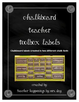 Chalkboard Teacher Toolkit Labels