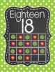 Chalkboard Ten Frame Number Posters- Green and Pink