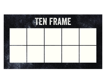 Chalkboard Ten Frame and Double Ten Frame