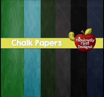 Chalkboard Textured Digital Papers