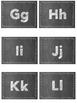 Chalkboard Theme Alphabet Card Labels - Two designs
