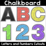 Chalkboard Theme Alphabet Letters and Numbers Cutouts for Bulletin Boards