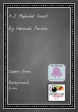 Chalkboard Theme Animal Alphabet Chart - Handwriting A-Z - QLD beginners script
