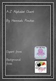 Chalkboard Theme Animal Alphabet Chart - Handwriting A-Z -