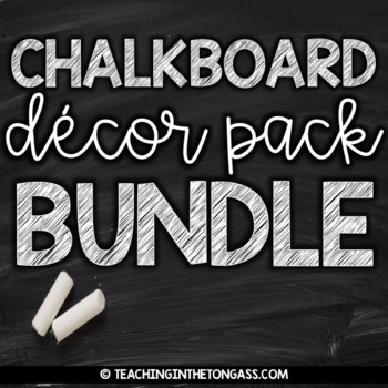 chalkboard theme bundle by teaching in the tongass tpt