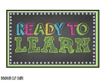 Chalkboard Theme- Behavior Clip Chart & Rules