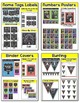 Chalkboard Theme Bundle #2 - Name Tags, Binder Covers, Bunting, Numbers, Centers
