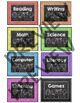 Chalkboard Theme Centers Signs