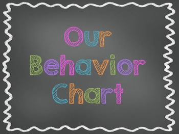 Chalkboard Theme Classroom Behavior Chart