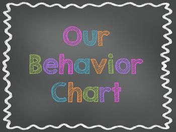 Chalkboard Theme Classroom Behavior Chart