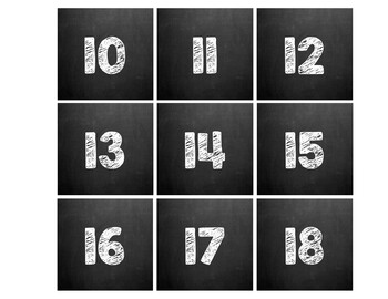 Chalkboard Theme Classroom Calendar