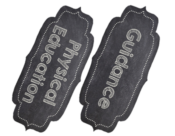 Chalkboard Theme Classroom Labels Pack