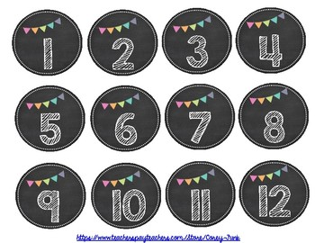 Chalkboard Theme Classroom Library Labels and Student Book Bin Labels