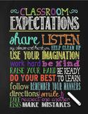 Chalkboard Theme Classroom Poster - Generic - Classroom Ex