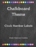Chalkboard Theme Clock labels
