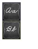 Chalkboard Theme Cursive Alphabet