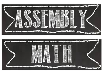 Chalkboard Theme Daily Schedule