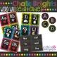 Chalkboard Theme Classroom Decor Bundle - Black and Bright