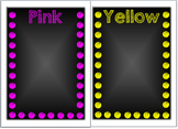 Chalkboard Theme Group Posters