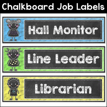 Chalkboard Theme Jobs Labels