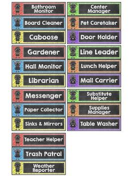Chalkboard Theme Jobs Labels