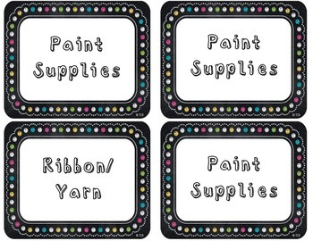 Chalkboard Theme Labels