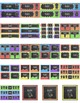 Chalkboard Theme Labels and Templates Bundle