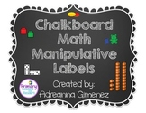 Chalkboard Theme Math Manipulatives Labels