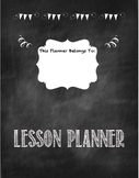 Middle/High School Lesson Planner-Chalkboard Theme