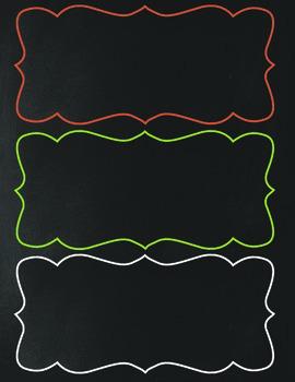 Chalkboard Themed Classroom Pack