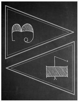 Chalkboard Theme Pennant Banner Set