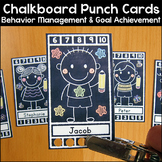 Chalkboard Theme Punch Cards Behavior Management & Goal Ac
