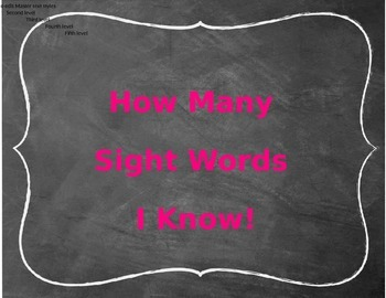 Chalkboard Theme Sight Word Clip Chart Tracker ~ EDITABLE